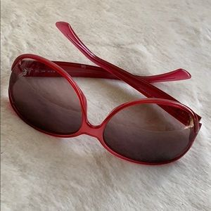 🔥FENDI Sunglasses, Authentic, Pre-Owned, EUC, Red